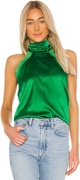 Alyssa Lace Halter Blouse in Green. - size XS (also in S,M)