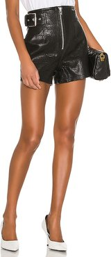 Sandy Leather Shorts in Black. - size M (also in L,S,XS,XXS)