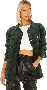 Mads Oversized Jacket in Green. - size XS (also in S,M,L,XL)