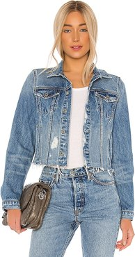 Cara Jacket in Blue. - size L (also in S,M)