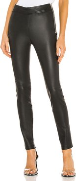 Zip Leather Legging in Black. - size 6 (also in 0,2,4,8)
