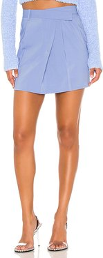 Wrap Mini Skirt in Baby Blue. - size 2 (also in 0,6,8)