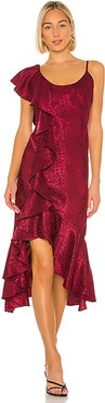 x REVOLVE Georgeta Dress in Wine. - size S (also in XS,XXS)