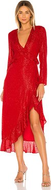x REVOLVE Justina Maxi Dress in Red. - size XS (also in S,XXS)