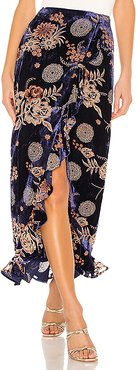 x REVOLVE Ferris Maxi Skirt in Blue. - size M (also in L,S,XS)