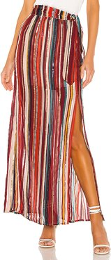 x REVOLVE Mya Maxi Skirt in Red. - size S (also in M,XS)