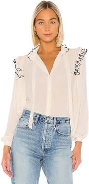 Secretary Blouse in Ivory. - size XS (also in L)