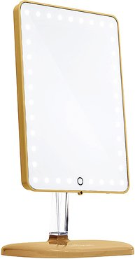 Touch Pro LED Makeup Mirror with Bluetooth in Champagne Gold.