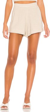 Fleur High Waist Short in Taupe. - size L (also in M,S,XS)