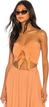 Lipa Double Knot Top in Tan. - size XS/S (also in S/M,M/L)