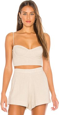 Poppy Bustier Top in Taupe. - size XS (also in S)