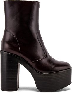 Mexique Big Platform Ankle Boot in Chocolate. - size 6 (also in 7.5,8,8.5,9,10)