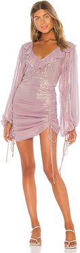 River In The Sky Vambelle Mini Dress in Pink. - size M (also in XS)
