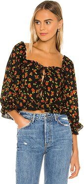 Begonia Martina Top in Black. - size XS (also in S)