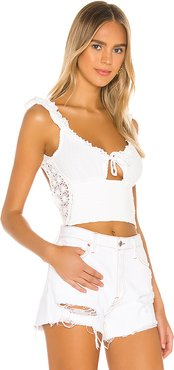 Monsoon Tank in White. - size L (also in M,XL)