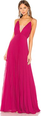 Pleated Gown in Pink. - size 4 (also in 2)