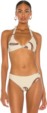 Ecru Tipping Point Bikini Top in Ivory. - size XS (also in M,S)