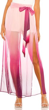 Ombre Wide Leg Pant in Pink. - size L (also in M,S)