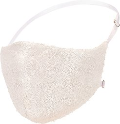 Disco Ball Face Mask in Ivory.