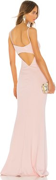 Bambi Gown in Blush. - size 0 (also in 10,2,4,6)
