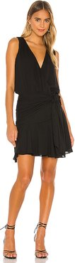 Flirty Hip Sash Mini Dress in Black. - size L (also in M,S,XS)