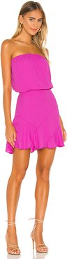 Strapless Mini Dress in Fuchsia. - size XS (also in L,M,S)
