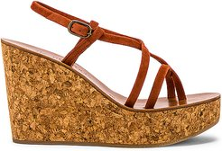 Hera Wedge Sandal in Brown. - size 41 (also in 36,38,39,40)