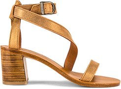 Seraphine Heeled Sandal in Metallic Gold. - size 36 (also in 37,38,39,40)
