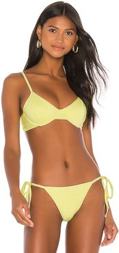 Reversible Kylie Top in Lemon. - size M (also in XS,S)
