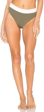 Isla Reversible High Waist Bottom in Green. - size L (also in XS,S)
