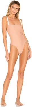 Claire One Piece in Tan. - size XS (also in S,L)