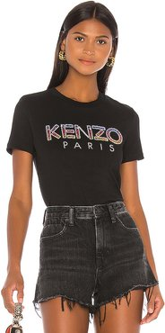 Embellished Kenzo Paris T Shirt in Black. - size M (also in S,XS)