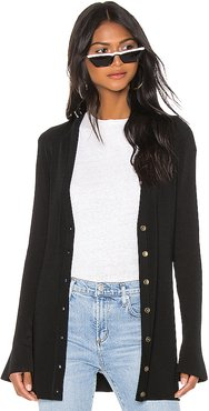 Lucas Long Cardigan in Black. - size XS (also in S,M,L)