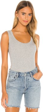 You Rib Tank in Grey. - size S (also in XS,M,L)