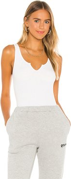 Notch Ribbed Tank in White. - size XS (also in L)