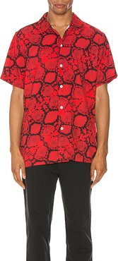 Ocean Shirt Snakeskin in Red. - size M (also in S)