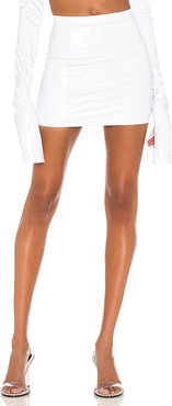 X REVOLVE High Waist Mini Skirt in White. - size XS (also in S,M,L)
