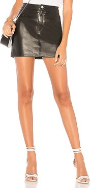 Melora Leather Skirt in Black. - size M (also in L)