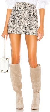 Melora Snake Skirt in Beige. - size S (also in L)
