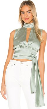 Opal Top in Mint. - size S (also in XS,M)