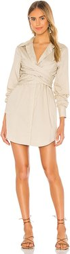 The Anette Mini Dress in Beige. - size XS (also in L)