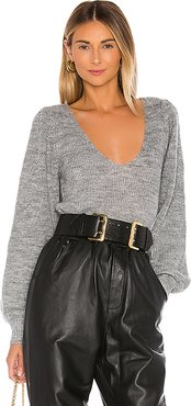 Rosette Sweater in Gray. - size S (also in XS,M,L)