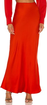 The Nadaleine Maxi Skirt in Red. - size S (also in L,M,XS,XXS)