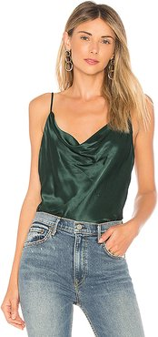 The Cowl Cami in Green. - size L (also in S,XXS)