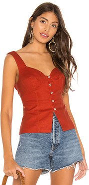The Colette Top in Red. - size XL (also in L,M,S,XS,XXS)