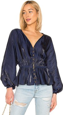The Diane Blouse in Navy. - size XXS (also in XS)