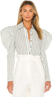 The Lennox Top in White. - size M (also in XXS,XS,S,L)