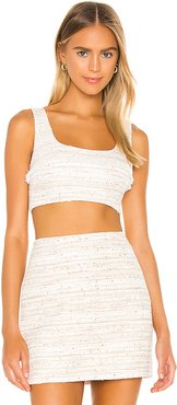 The Risa Crop Top in Ivory. - size XS (also in L,M,S,XL,XXS)