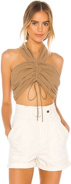The Aliz Top in Tan. - size XL (also in S,M,L)