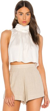 The Brielle Crop Top in Ivory. - size L (also in XS,S,M,XL)
